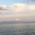 境港から大山を望む